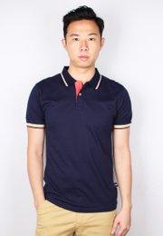 Tri Tipped Polo T-Shirt NAVY (Men's Polo)