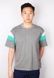 Colour Block Oversized T-Shirt GREY (Men's T-Shirt)