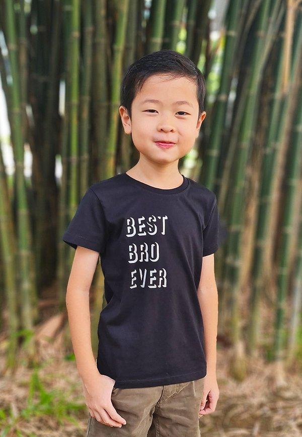 BEST BRO EVER T-Shirt BLACK (Boy's T-Shirt)