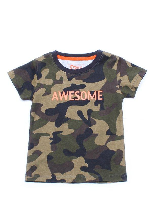 AWESOME Modern Camo T-Shirt GREEN (Boy's T-Shirt)