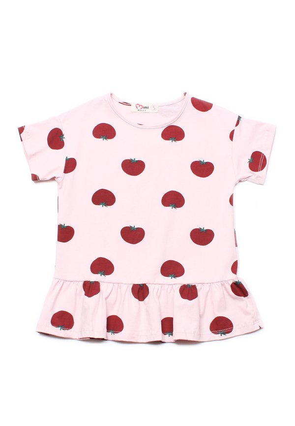 Tomato Print Frill T-Shirt PINK (Girl's Top)