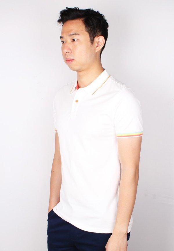 Tri Tipped Polo T-Shirt WHITE (Men's Polo)