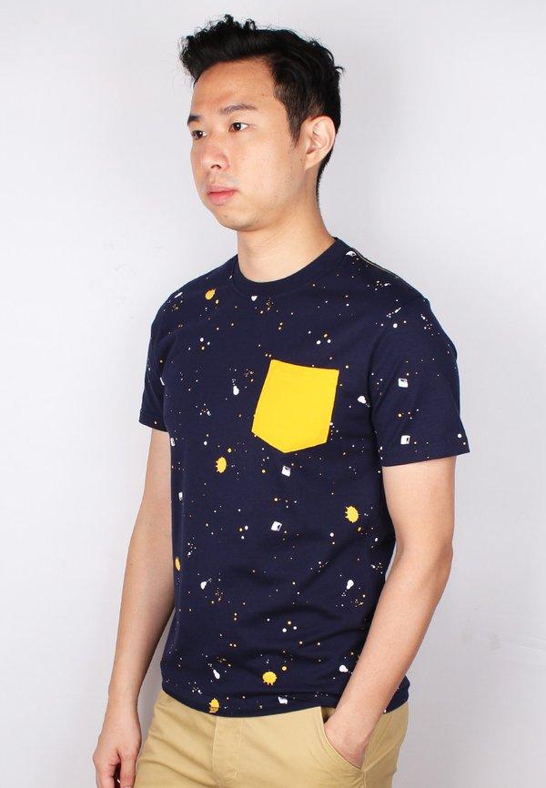 Paint Splatter T-Shirt NAVY (Men's T-Shirt)