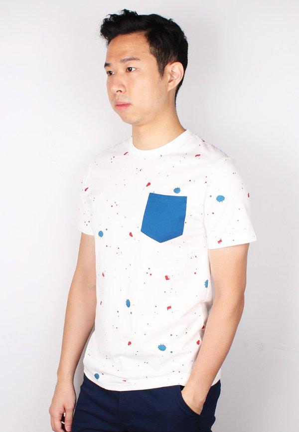 Paint Splatter T-Shirt WHITE (Men's T-Shirt)