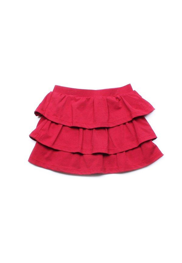 3 Tier Skirt RED (Girl's Bottom)