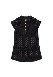 Polka Dots Polo Shift Dress BLACK (Girl's Dress)