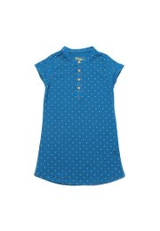 Polka Dots Polo Shift Dress BLUE (Girl's Dress)