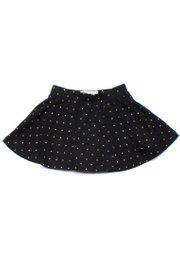 Polka Dots Print Skirt BLACK (Girl's Bottom)