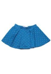 Polka Dots Print Skirt BLUE (Girl's Bottom)