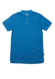 Polka Dots Trims Polo T-Shirt BLUE (Men's Polo)