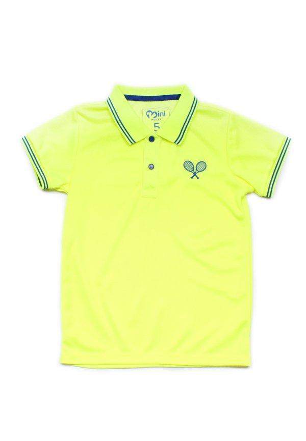 Racquet Sports Polo T-Shirt YELLOW (Boy's T-Shirt)