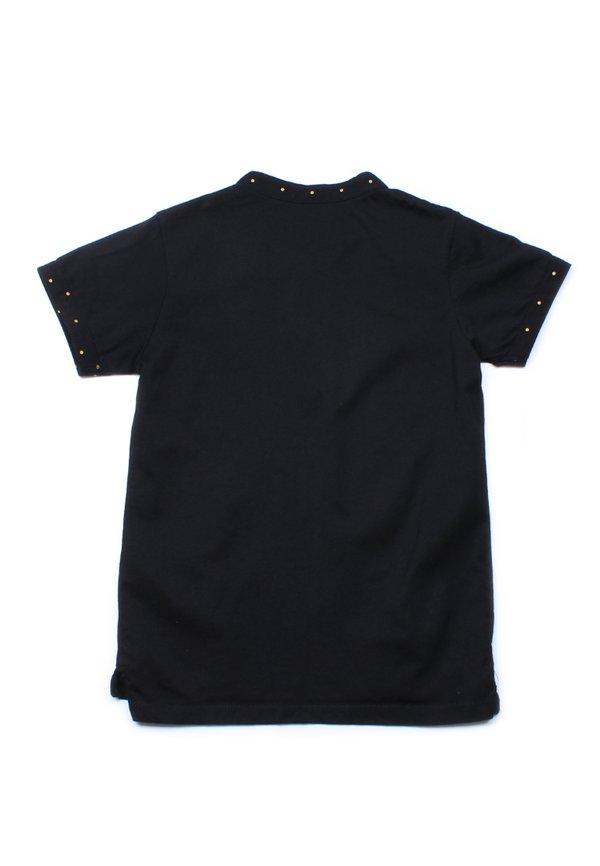 Polka Dots Trims Polo T-Shirt BLACK (Boy's T-Shirt)