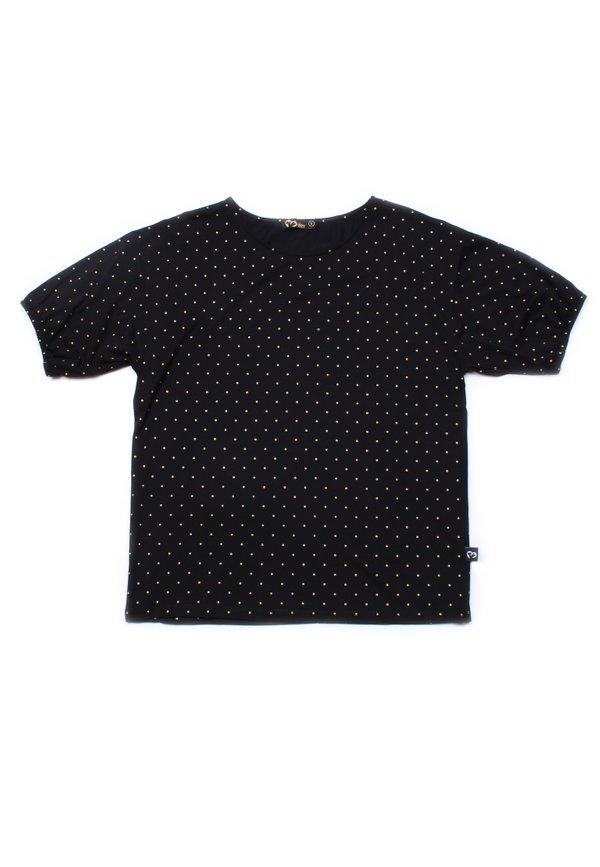 Polka Dots Print Blouse BLACK (Ladies' Top)