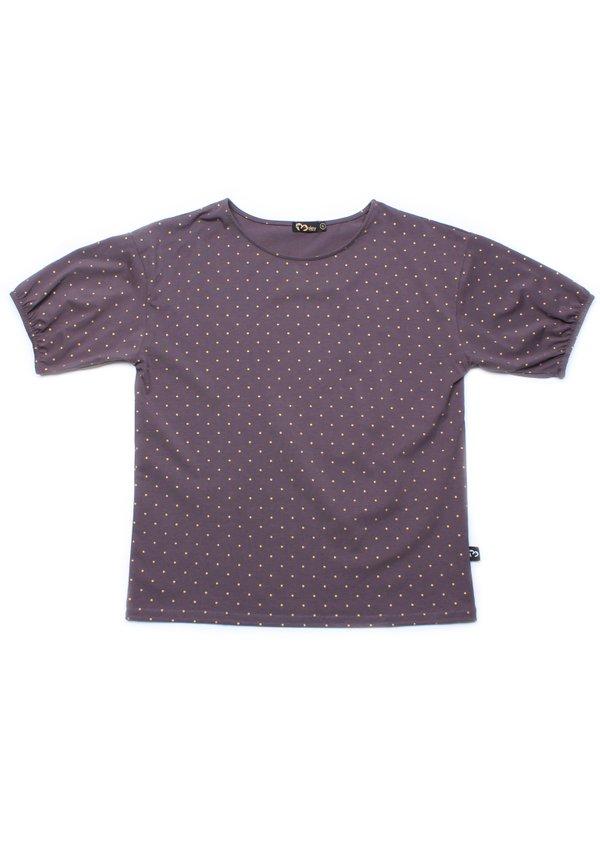 Polka Dots Print Blouse GREY (Ladies' Top)
